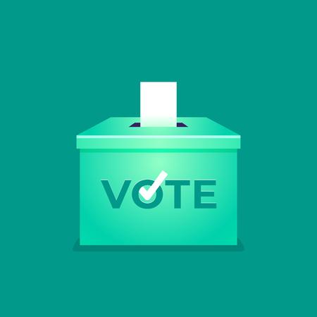 Vote aux urnes. Notion de jour d'élection. Vecteurs