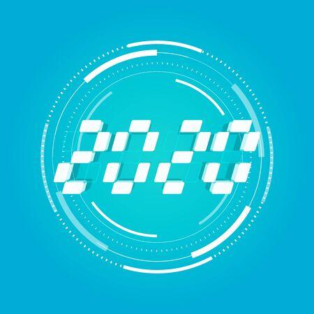 2020 digital number, Decorative element for design Happy New Year 2020. Foto de archivo - 129962511