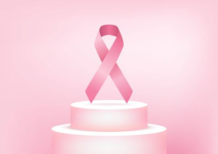 Breast Cancer Awareness Pink Ribbon. Foto de archivo - 129962335