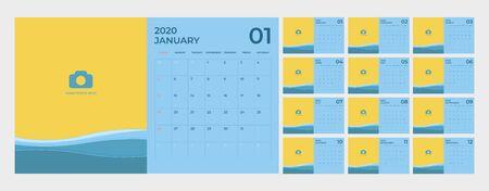 Modern Calendar for 2020 template. Foto de archivo - 131815934