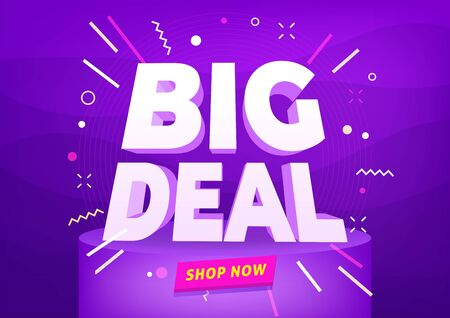 Big deal sale poster or banner design. Illustration