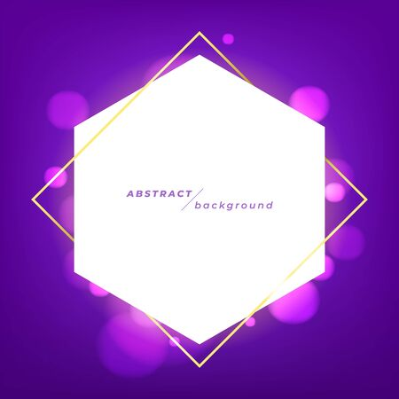 Abstract banner template design with bright rays of light on violet background. Foto de archivo - 133190396