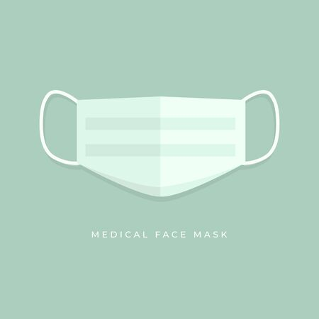 Simple Medical face mask icon symbol.