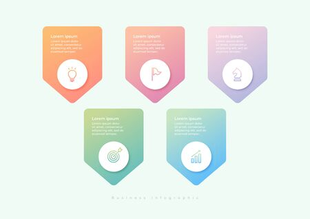 Infographic label design and marketing icons can be used for workflow layout, diagram, annual report, web design. Illustration