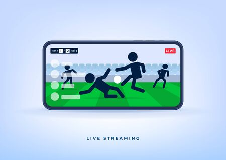 Soccer or football league live streaming on mobile phone. Watch any live football match online.