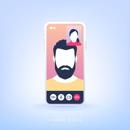 Video call on a smartphone.