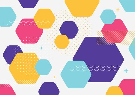 Abstract colorful geometric shapes background banner template.