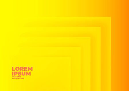 Abstract rectangle overlap yellow background with space for text and message.