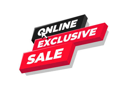 Online exclusive sale tag or banner design.