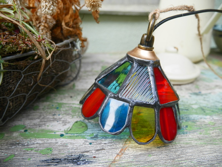 Of stained glass cafe lamp
