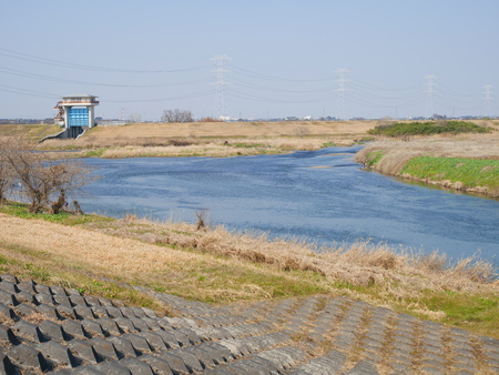 confluence: Kokai River confluence Stock Photo