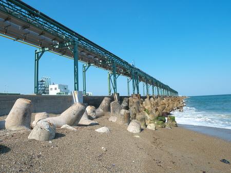 breakwater: Kashima south breakwater near the inlet Stock Photo