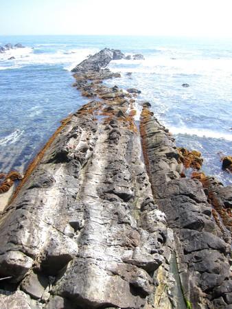 cretaceous: Coast of Japan Cretaceous layer Stock Photo