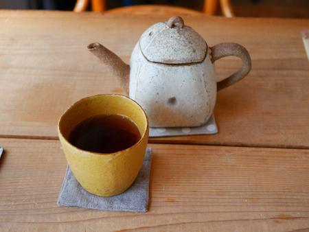 陶器茶とティーポット 写真素材