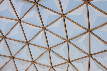 botanical dome glass roof pattern photo