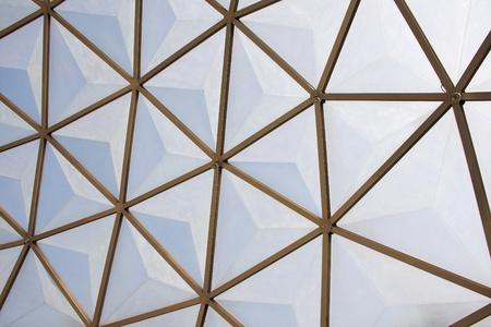 botanical dome glass roof pattern photo