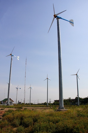 windmill for  generate power  in rural of Thailand, clean technology photo