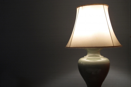 classic lamp in bedroom and lamp shade Stock Photo - 13849998