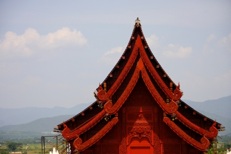 Gable apex on the roof of temple in Thailand Stock Photo - 13886591