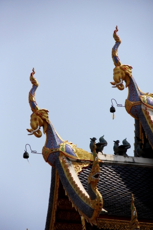 apex: Gable apex on the roof of temple in Thailand
