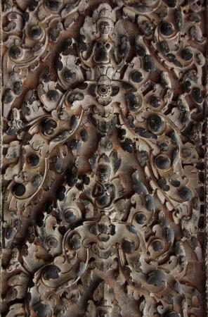 Decorative pattern on Angkor Wat, Cambodia. photo