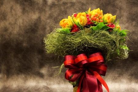 Beautiful bouquet of flowers for celebration and wedding. photo