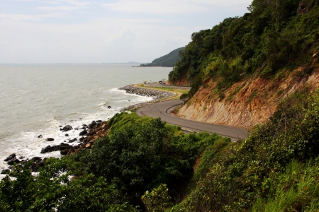 road at sea coastline in Thailand photo