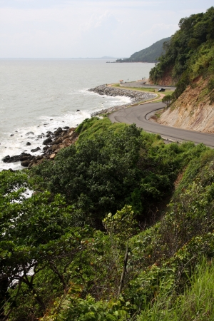 road at sea coastline in Thailand photo