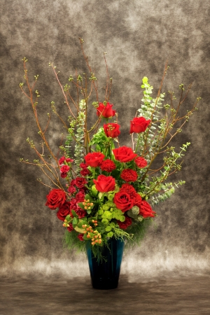 Beautiful bouquet of flowers for celebration and wedding  photo