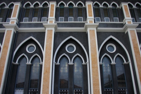 facade of tha church, Thailand photo