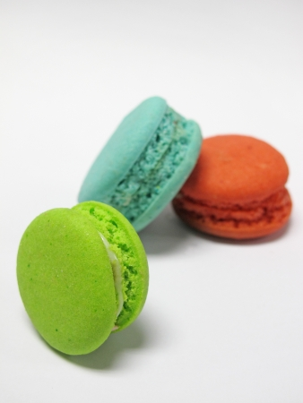 colorful macaron on white background  photo