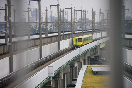 train, light rail ,mass transit in Japan photo