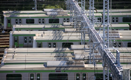 Depot of train, heavy rail, mass transit in Japan  photo