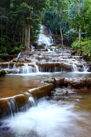 waterfall in PACHAROEN national park, Tak province, Thailand  photo