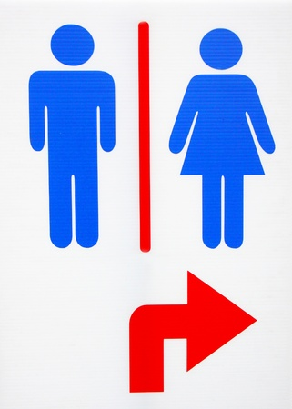 restroom sign, man and women. Stock Photo - 19090476