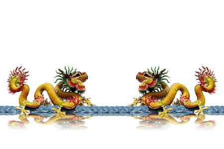 Chinese dragon sculptures. photo