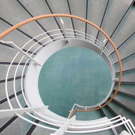 winder: Winder, steps which are curved in plan  Stock Photo