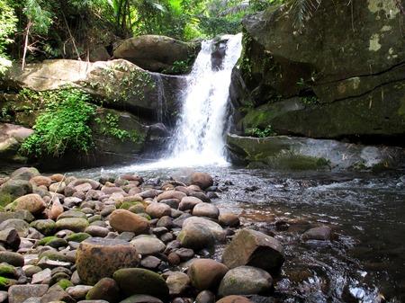 dao: PHU SOI DAO waterfall, major sightseeing spots with beautiful 5-step cascade  Thailand  Stock Photo