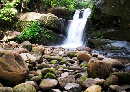 soi: PHU SOI DAO waterfall, major sightseeing spots with beautiful 5-step cascade  Thailand  Stock Photo