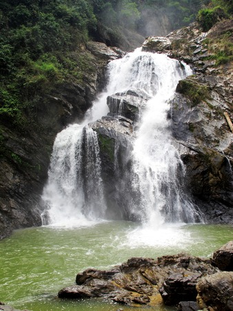 krung: Krung Ching waterfall, located in Nakhon Si Thammarat province, southern part of Thailand. Stock Photo