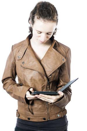 ereader: Teen with e-reader