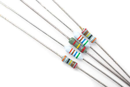 resistors: A bunch of resistors, electronic component, on a white background