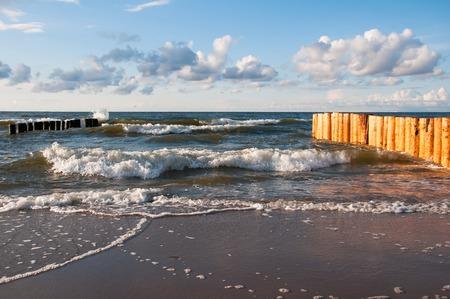 breakwaters: Seascape with new breakwaters