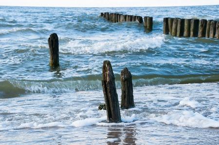 breakwaters: Seascape with old breakwaters