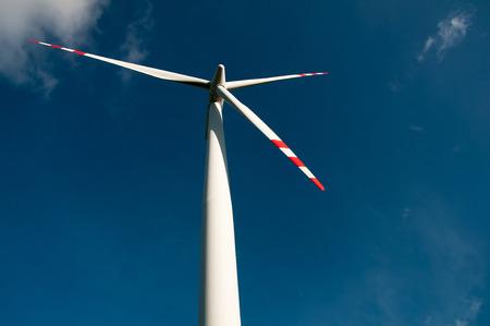 wind force wheel: Wind turbine on blue sky