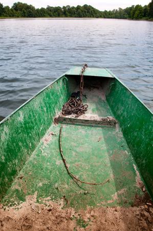 prow: Prow boat on lake
