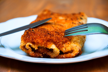 Stuffed potato croquettes with cheese Stock Photo