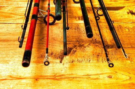 metal tips: Top of fishing rods