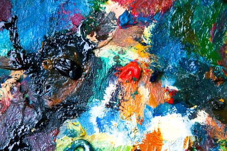 oil paints: Oil paints multicolored closeup abstract background