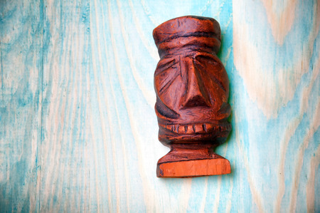 carved: Handmade carved wooden figurine